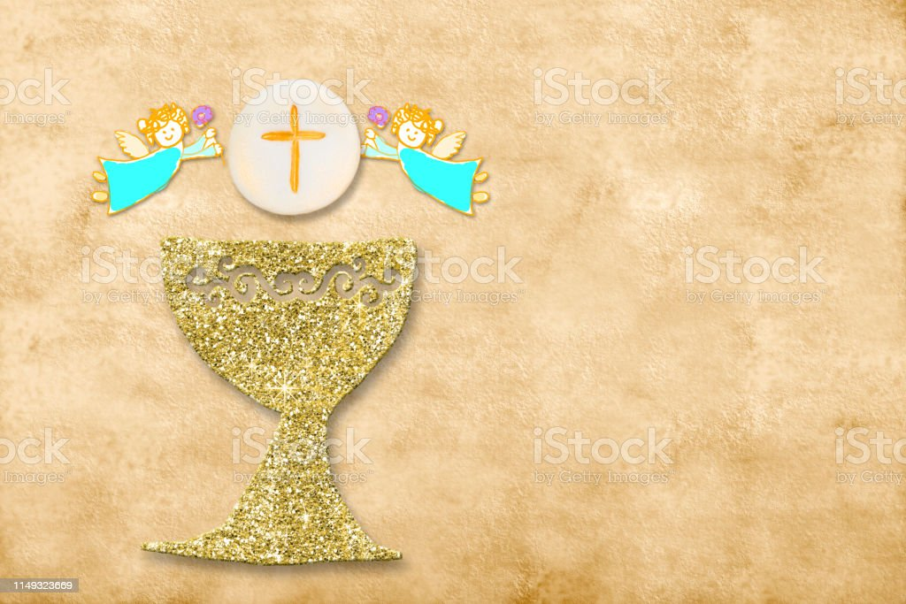 first holy communion invitation card stock photo download image now istock