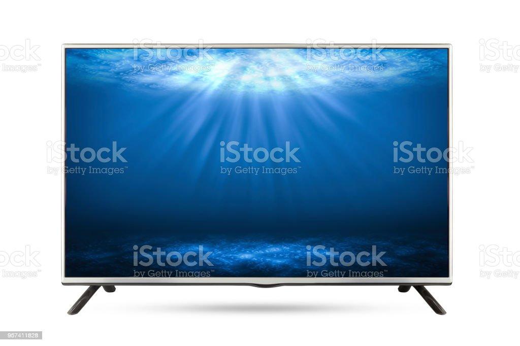 https www istockphoto com fr photo mer profonde de la tv c3 a9cran plat isol c3 a9 fond blanc gm957411828 261428997