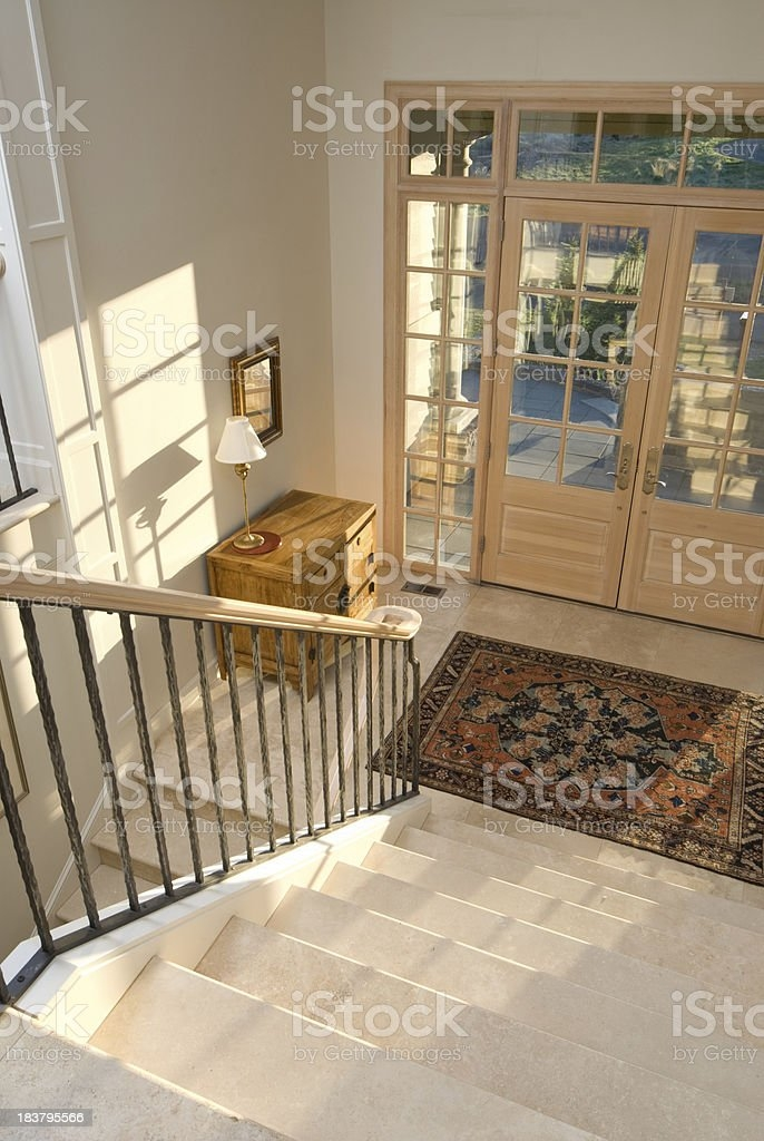 Front Entrance And Staircase Stock Photo Download Image Now Istock   Front Staircase House Design   Residential   Outside   Front Jina   Home Front Valuation   Sitout