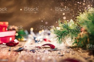 Glitter Being Scattered Over A Broken Christmas Ball Stock Photo Download Image Now Istock