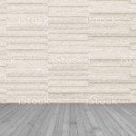 Granite Tile Wall In Light Cream Beige Brown Color With Wooden Floor In Dark Grey Stock Photo Download Image Now Istock