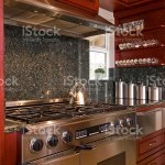 Green Granite And Steel Kitchen Stock Photo Download Image Now Istock