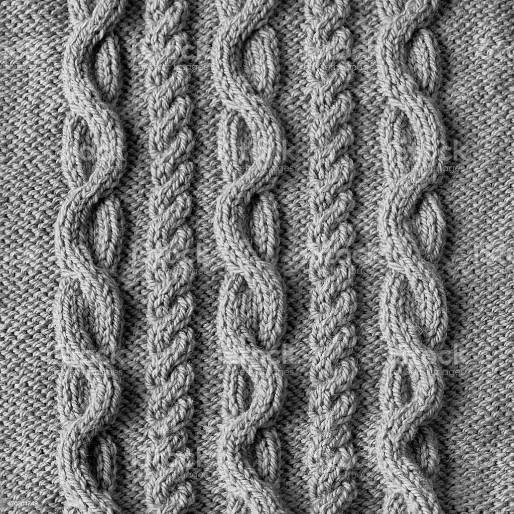 Knit Cable Pattern Clip Art