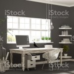 Home Workplace Scandinavian House Room Corner Office Classic Minimalist Interior Design Stock Photo Download Image Now Istock