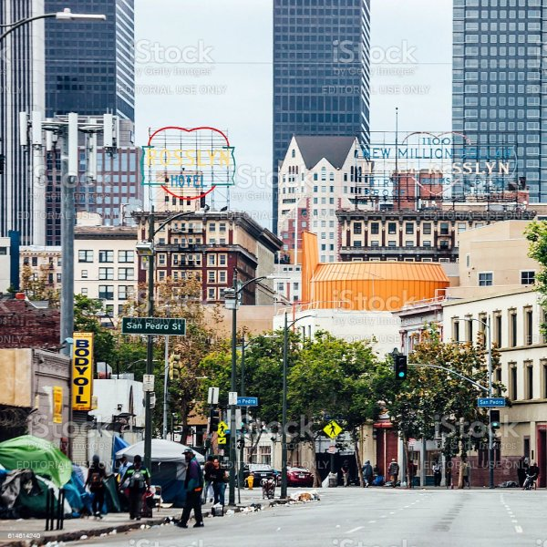 Homeless People At Los Angeles Skid Row Stock Photo & More ...