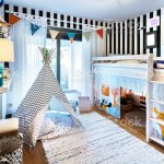 Kid Bedroom With Teepee And Bunk Bed Stock Photo Download Image Now Istock