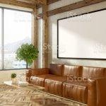 Sofa De Cuero En Color Beige Sala Esquina Cartel Foto De Stock Y Mas Banco De Imagenes De A La Moda Istock