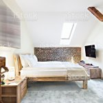 Luxurious Modern Loft Bedroom Interior With Twin Bed Stock Photo Download Image Now Istock