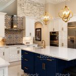 Luxury White Kitchen Design Stock Photo Download Image Now Istock
