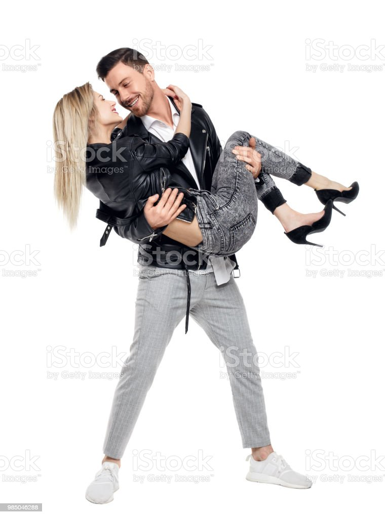 Best Man Carrying Woman In Arms Stock Photos, Pictures ...