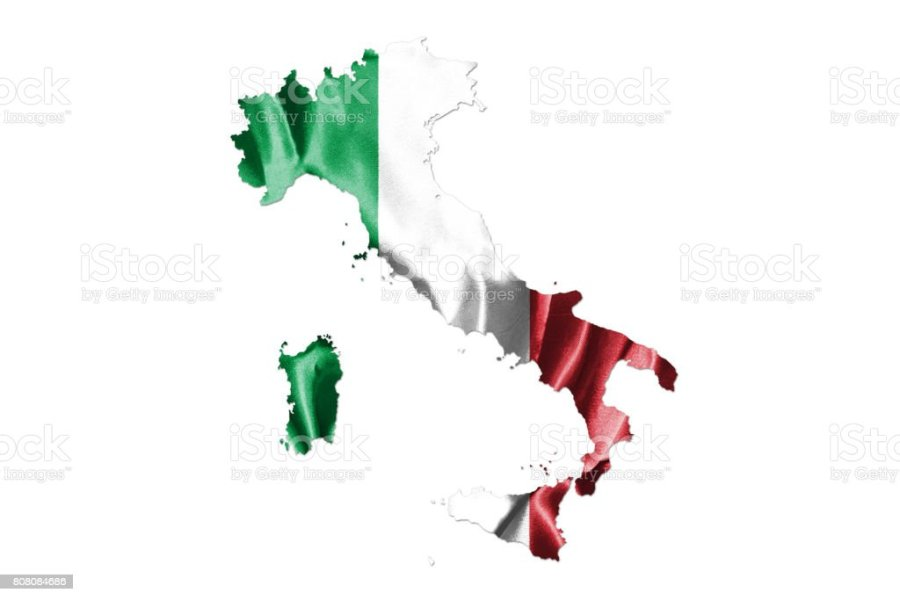 Map Of Italy With Italian Flag Official Colors And Proportion Stock     Map of Italy With Italian Flag  Official colors and proportion royalty free  stock photo
