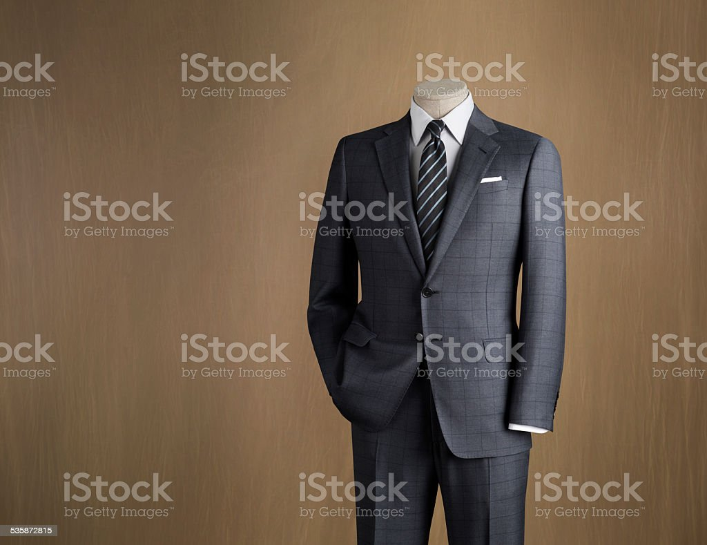 Mens Fashion Mannequin Displaying Mens Suit In Formal Wear ...