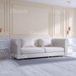 Moderne Und Klassische Wohnzimmer Interior Design Weiss Und Gemutliche Raumkonzept Haus Dekoideen 3drendering Stockfoto Und Mehr Bilder Von Architektur Istock