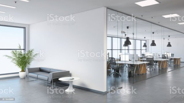 Modern Business Office Space With Lobby Stock Photo More