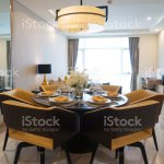 Modern Dining Room With Flower Arrangement Stock Photo Download Image Now Istock