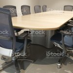 Modern Empty Boardroom Office Conference Table And Chairs Stock Photo Download Image Now Istock