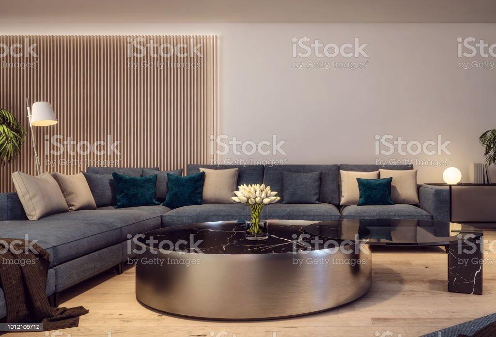photo libre de droit de design interieur moderne de salon de style italien scene de nuit banque d images et plus d images libres de droit de a la mode istock