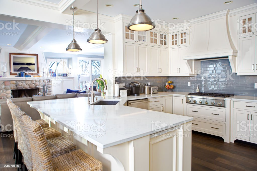 Modern Kitchen Design With Open Concept And Bar Counter ... on Modern Kitchen Counter  id=26989