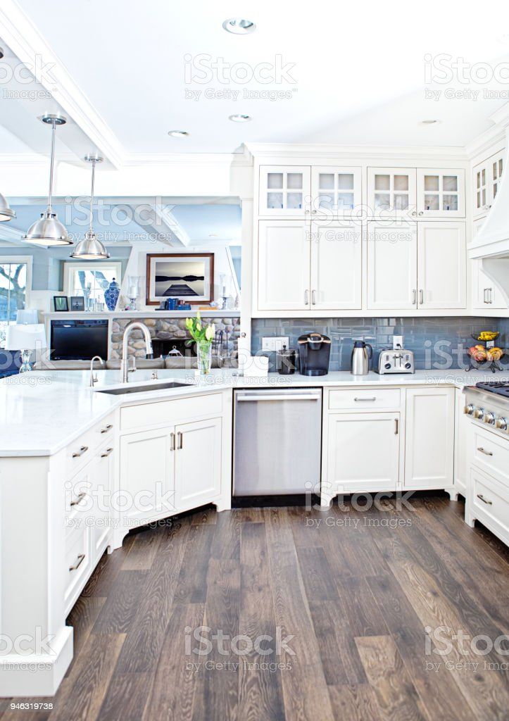 Modern Kitchen Design With Open Concept And Bar Counter ... on Kitchen Counter Decor Modern  id=92529
