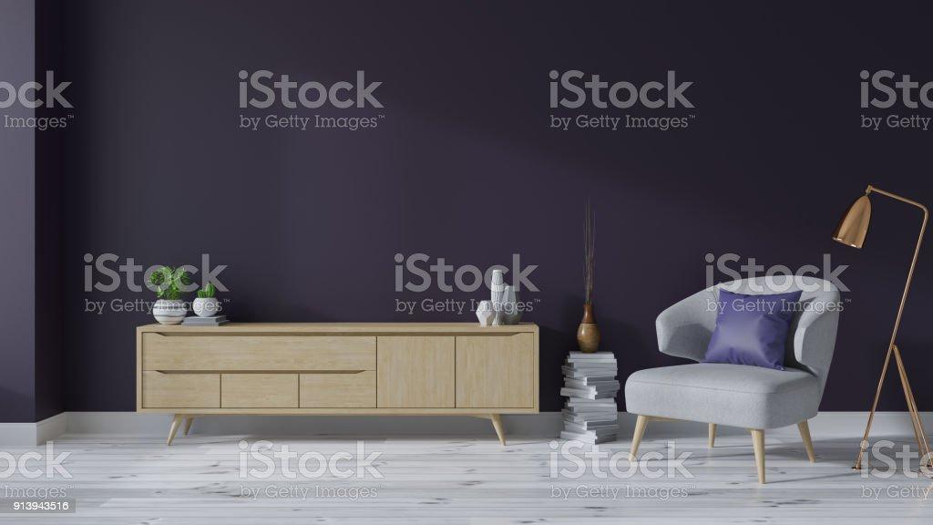 https www istockphoto com fr photo moderne au milieu du si c3 a8cle int c3 a9rieur de salon avec fauteuils et bois meuble tv blanc gm913943516 251566982