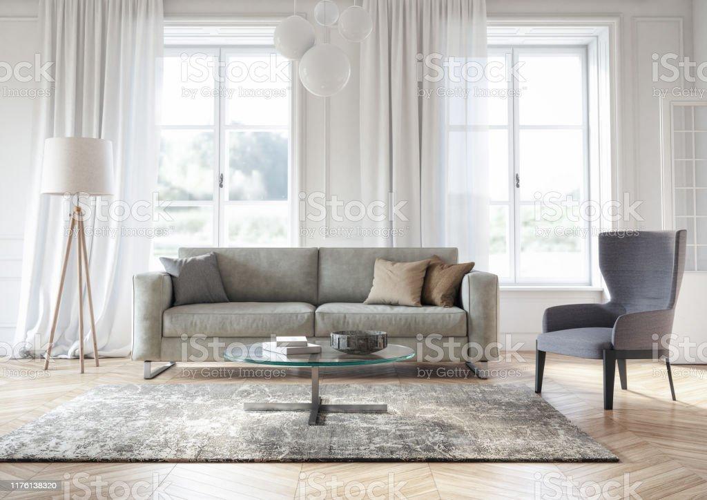https www istockphoto com fr photo int c3 a9rieur moderne de salon scandinave 3d rendu gm1176138320 327793082