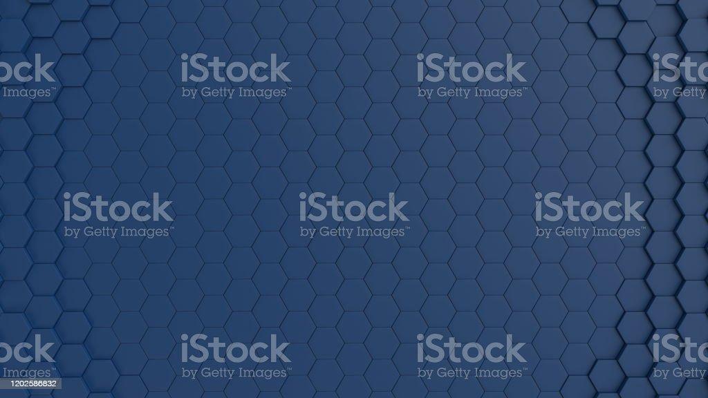 navy blue hexagonal tiles background circular stock photo download image now istock
