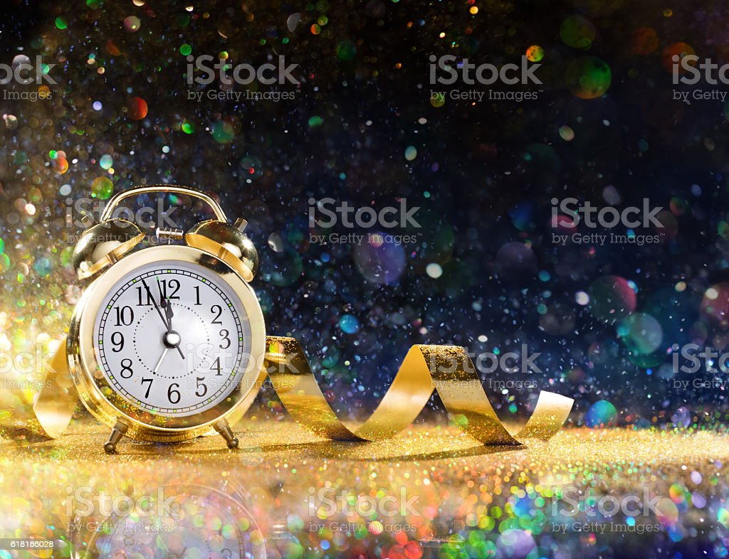 Royalty Free New Years Eve Pictures  Images and Stock Photos   iStock New Year Celebration With Alarm And Confetti stock photo