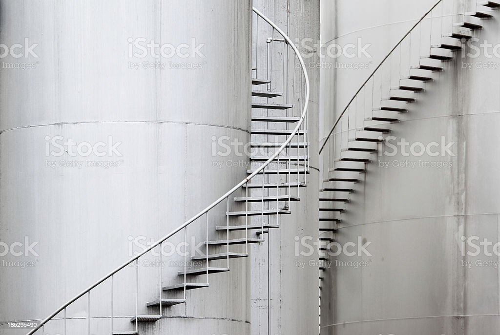 Best Staircase Of A Storage Tank Stock Photos Pictures Royalty   Spiral Staircase Design For Tanks   Wrought Iron   Architecture   Handrail   Steel   Stair Railing
