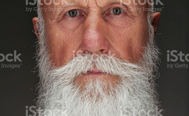 4bff8a3eb Old Man With A Long Beard With Big Smile Stock Photo & More