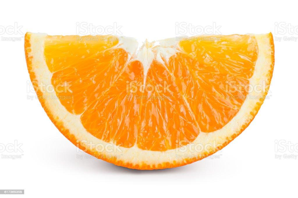 Orange Fruit Slice Isolated On White Stock Photo 617365358