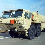 Oshkosh Hemtt Military Vehicle In Motion On The Highway Stock Photo Download Image Now Istock