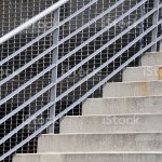 Outdoor Steps With Steel Railings Stock Photo Download Image Now Istock