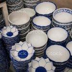 Teller Und Schussel Vintagestil Im Geschirr Shop Muster Von Blau Und Weiss Im Asiastil Stockfoto Und Mehr Bilder Von Abstrakt Istock