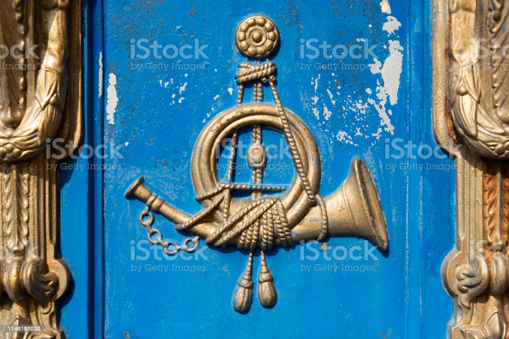 Post Horn Of An Old German Mailbox Stock Photo Download Image Now Istock