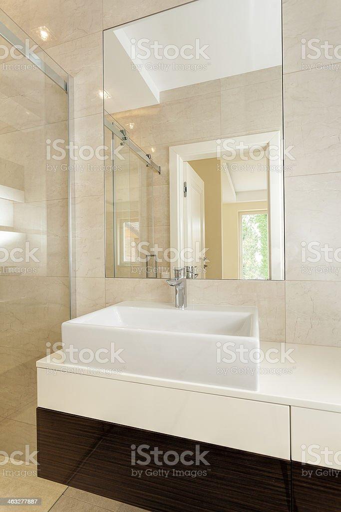 https www istockphoto com photo rectangular vessel sink in modern bathroom gm463277887 31944792
