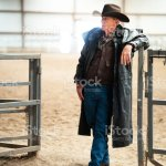 Senior Cowboy At A Horse Stable Stock Photo Download Image Now Istock
