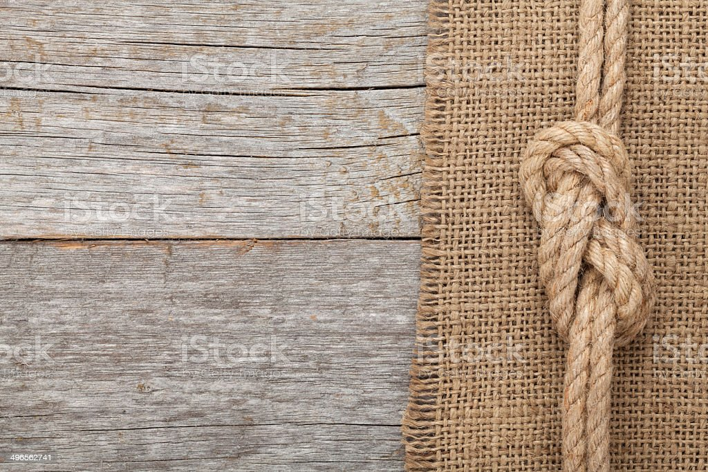 Ship Rope On Wooden Texture Background Stock Photo Amp More
