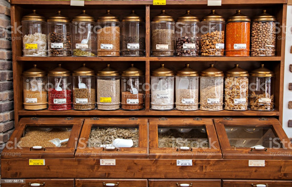 spice jars on shelves stock photo download image now istock