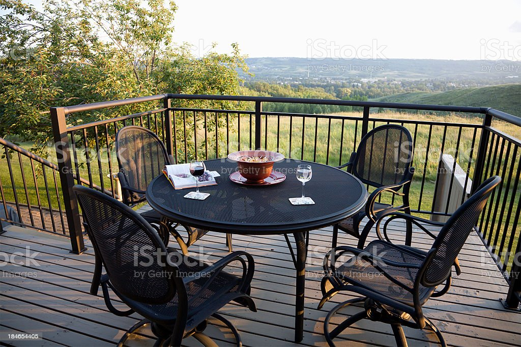 https www istockphoto com photo summer evening on the back porch gm184654405 18032400
