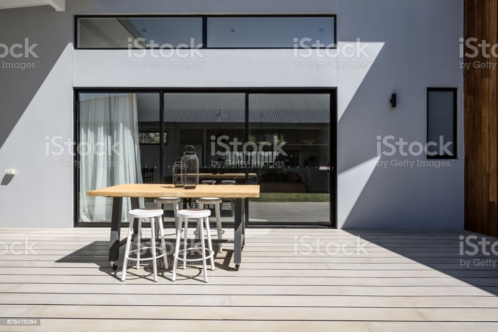 https www istockphoto com photo sunny outdoor entertaining deck with triple glass sliding doors gm675475284 123886217