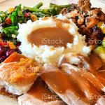 Thanksgiving Dinner Plate With Roast Turkey Dinner Stock Photo Download Image Now Istock