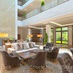 Foto De The Interior Design Of The Lounge Area With A Fireplace E Mais Fotos De Stock De Arquitetura Istock