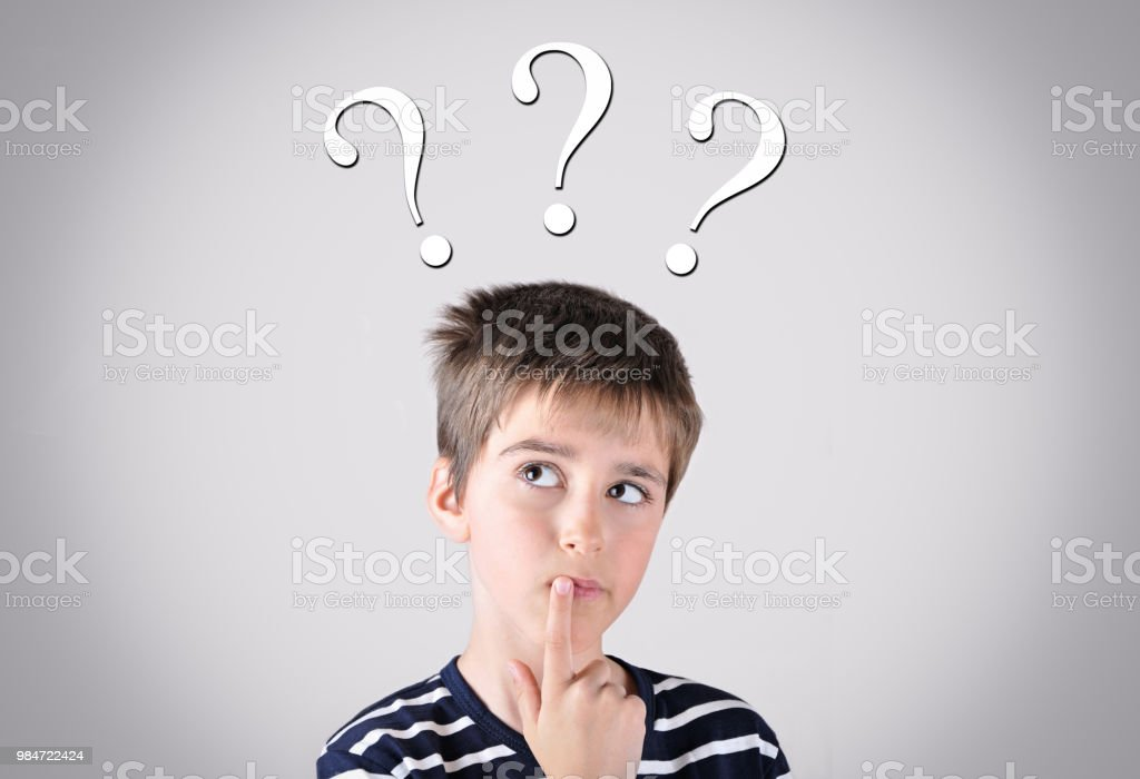Royalty Free Confusion Thinking Pensive Little Boys ...