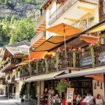 Tourists At Terrace Restaurant In Center Zermatt Stock Photo Download Image Now Istock