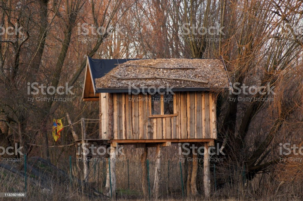 Tree House Cottage Wooden Cottage Stalls For Children Stock Photo Download Image Now Istock