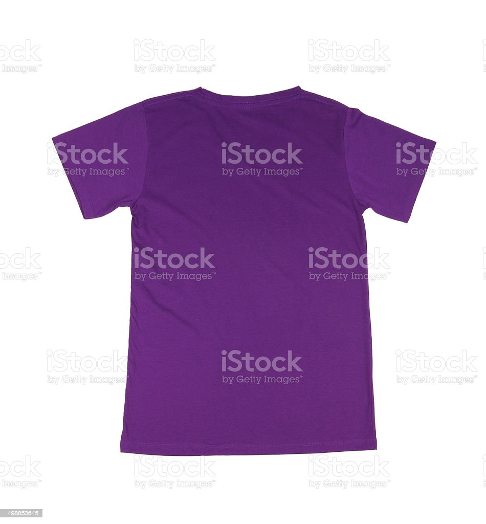 Royalty Free Silhouette Of The Purple T Shirt Template Pictures     t shirt template stock photo