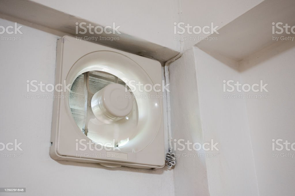 ventilation fan installed on wall with working in bedroom stock photo download image now istock