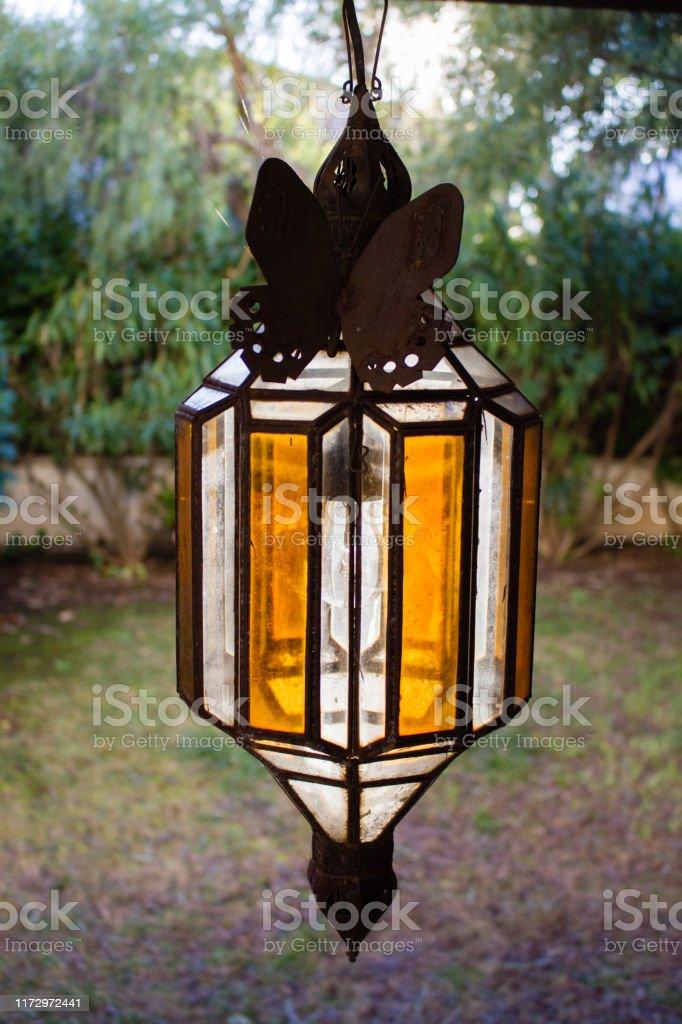 vintage outdoor porch pendant lamp garden fixture lights vintage terrace lighting lantern exterior ceiling pendant light stock photo download image now istock