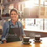 Waitress At Cafe Counter Stock Photo Download Image Now Istock