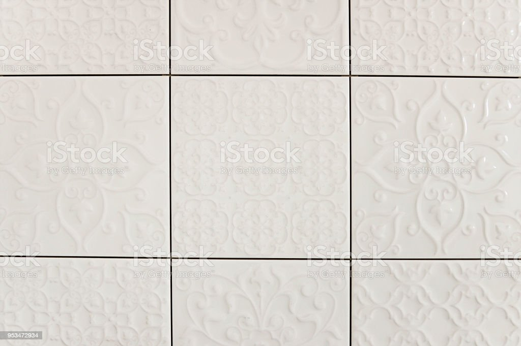 white floral tile background texture stock photo download image now istock